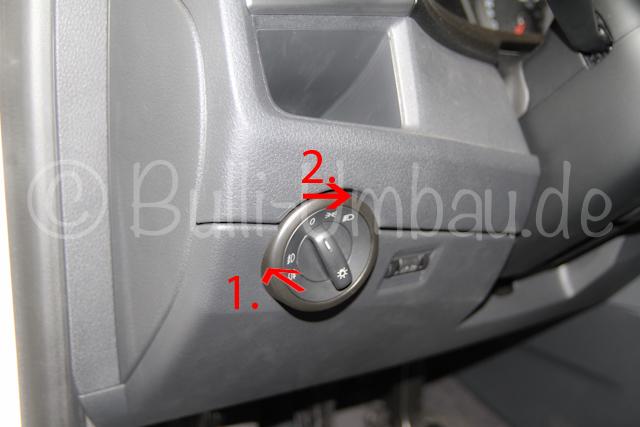 Lichtschalter VW T6 demontieren